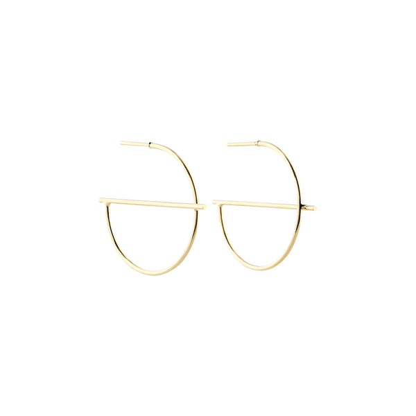 Geometric Creoles Earrings