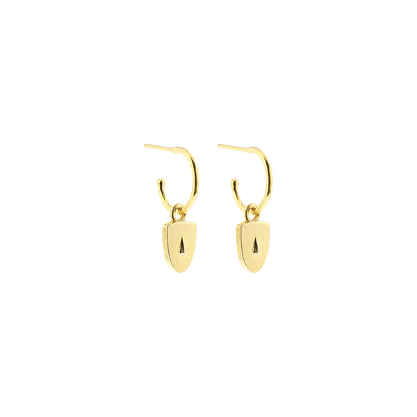 Cycladic Face Small Creoles Earrings