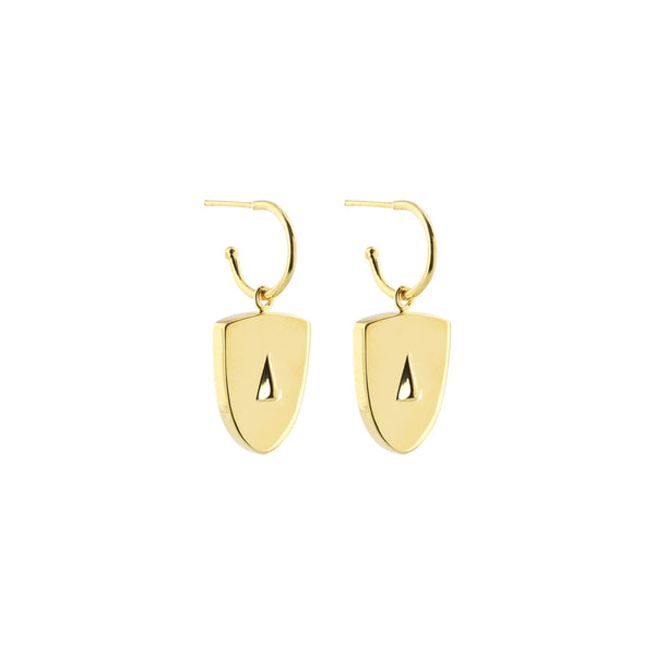 Cycladic Face Large Creoles Earrings