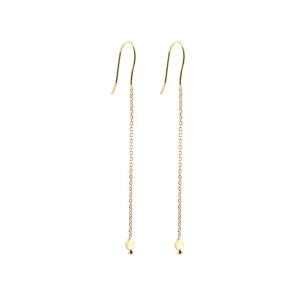 Thin Chain Long Earrings