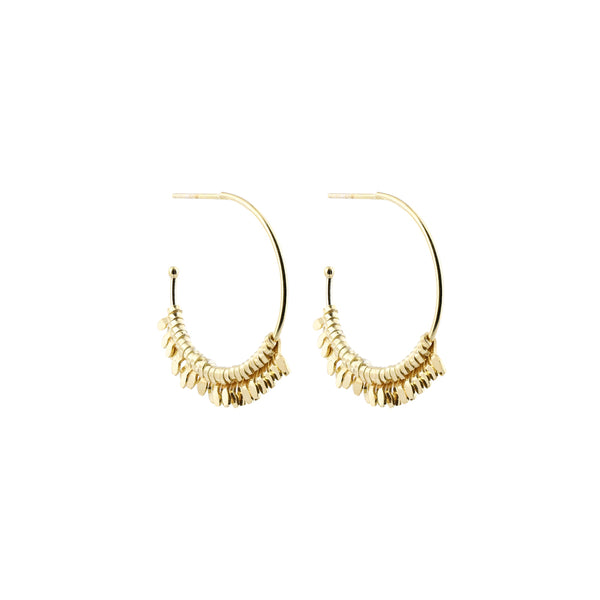 Large Pips Creoles Earrings