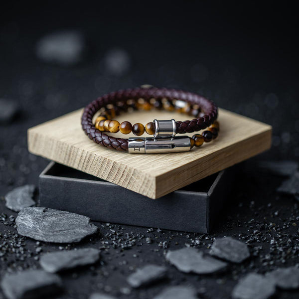 Olympus Twin Brown Bracelet