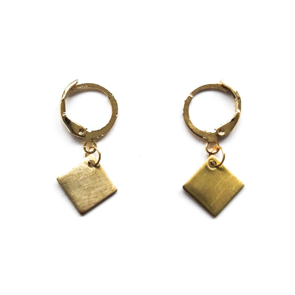 Square Short Earrings