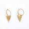 Creoles Triangle Short Earrings