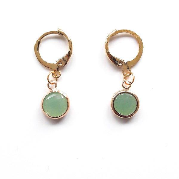 Stone Short Earrings
