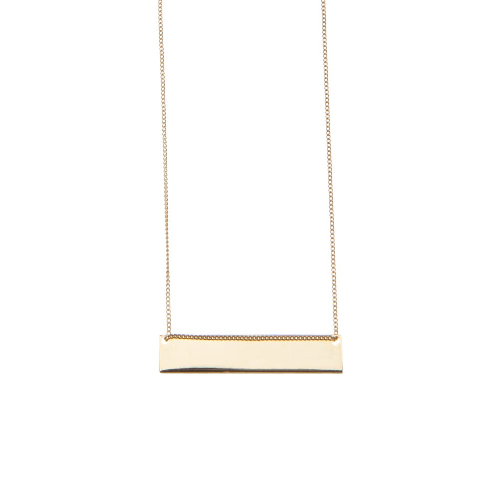 Bar Long Necklace