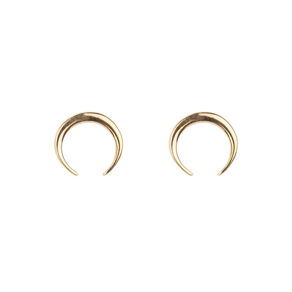 Horn Short Earrings