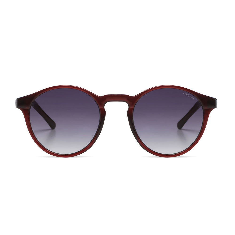 Devon Burgundy Sunglasses
