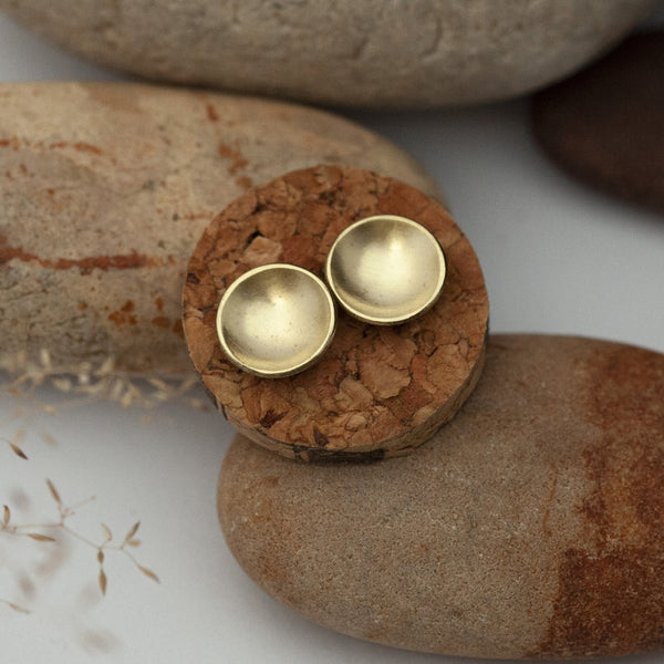 Disk Brass Earrings