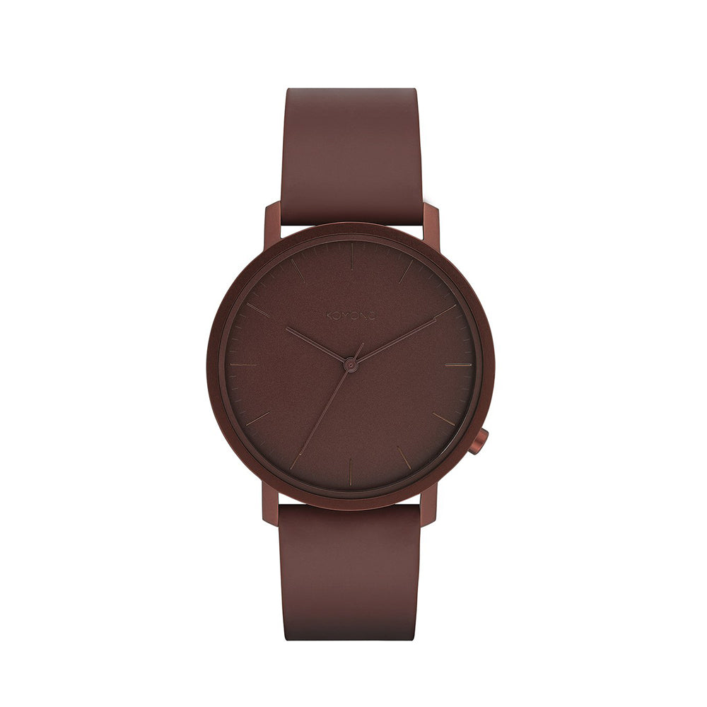 The Lewis Monochrome Burgundy Watch