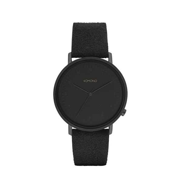 The Lewis Black Suede Watch