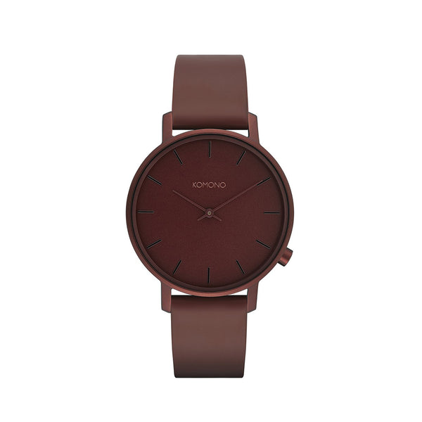 The Harlow Monochrome Burgundy Watch