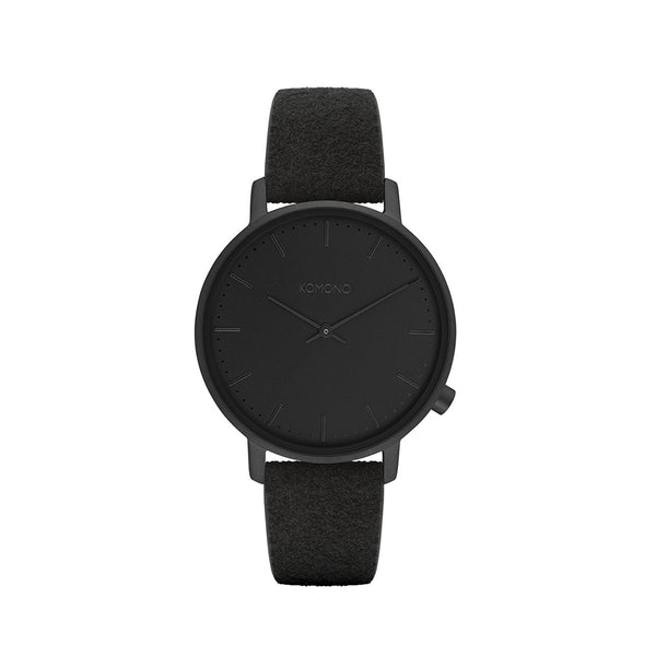 The Harlow Black Suede Watch