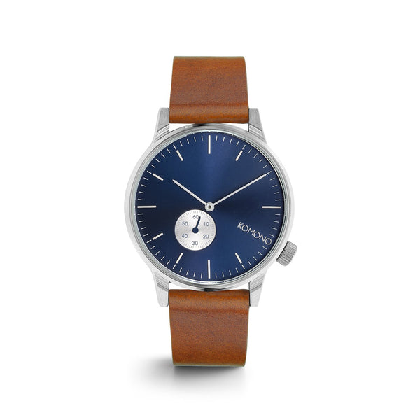Winston Subs Blue Cognac Watch