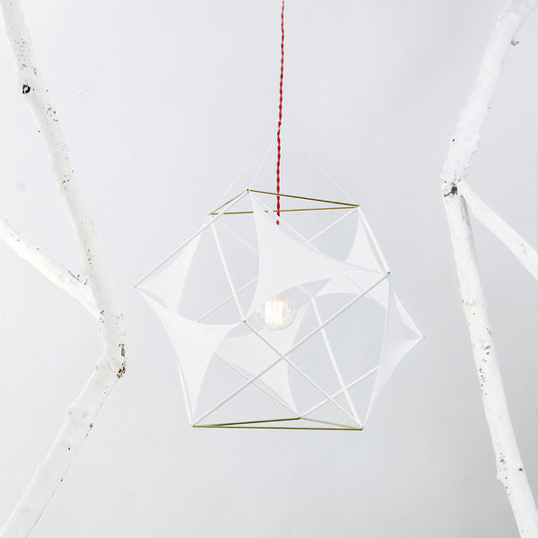 XYZ Golden Rectangles Tensegrity Lycras Ceiling Lamp