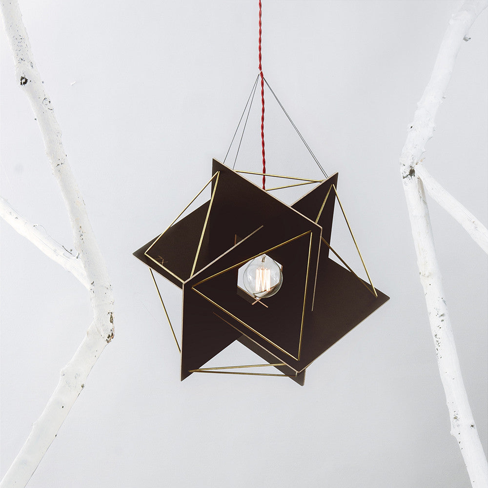 XYZ Golden Rectangles Tensegrity Wood Ceiling Lamp