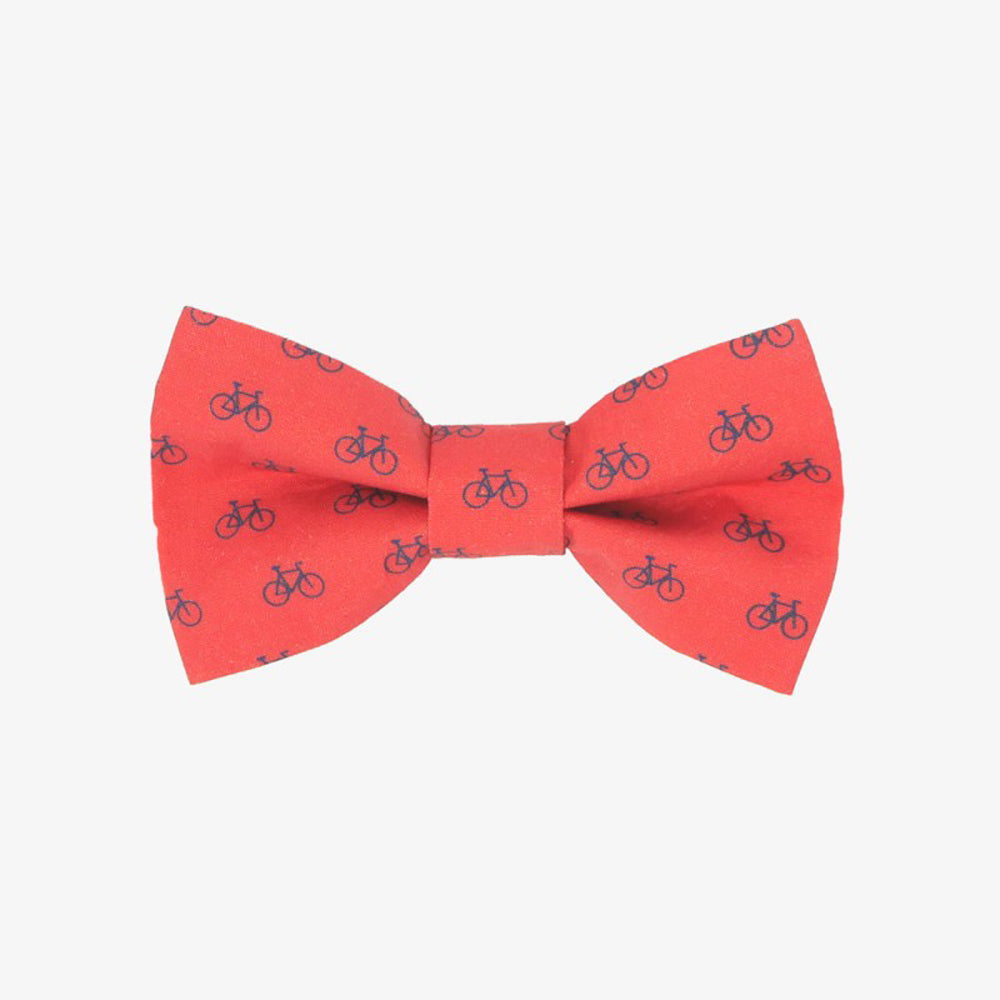 Bicycle Red Bow Tie