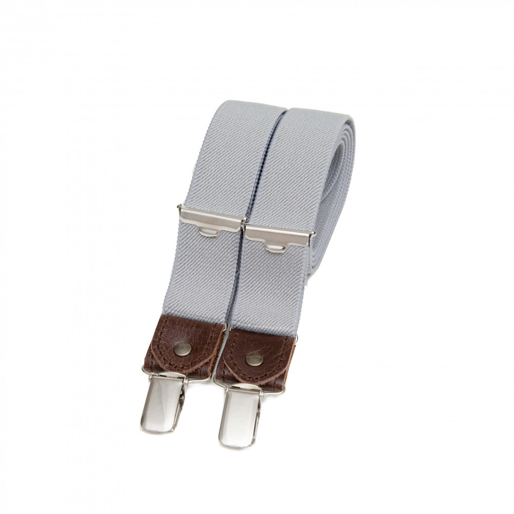Thin Suspenders With Leather