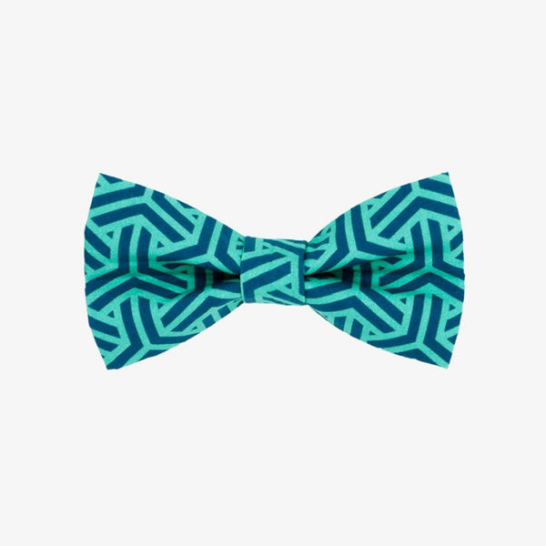 Geometric Green Bow Tie