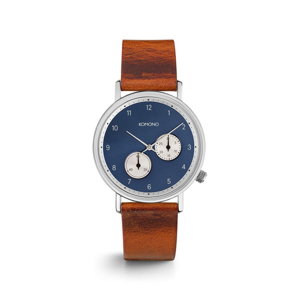 The Walther Blue Cognac Watch