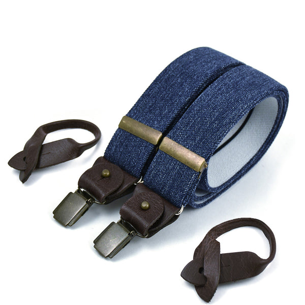 Wide Superior Suspenders Denim