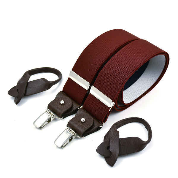 Wide Superior Suspenders Wine