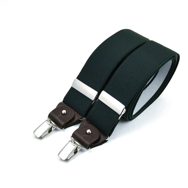 Wide Suspenders Bottle Green