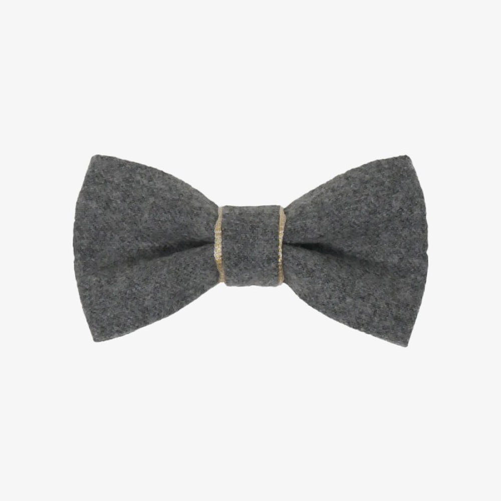 Wool Grey Bow Tie
