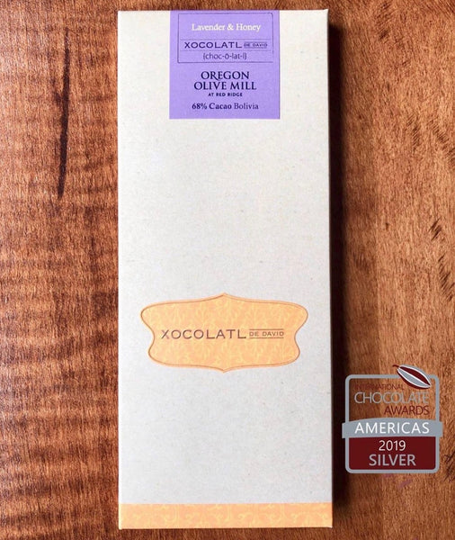 Estate Lavender, Honey and Mission EVOO Chocolate Bar
