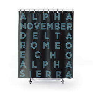 Your Name Shower Curtain