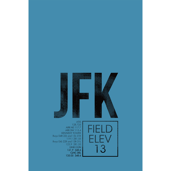 JFK fine art ATC | New York (2 Colors)