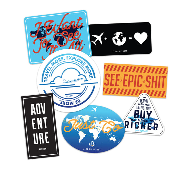 Travel Pack Decals