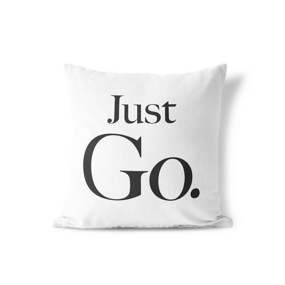 Just Go Pillow