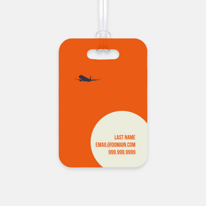 Cream Jet Luggage Tag