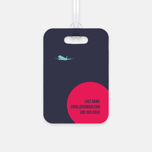 Red Jet Luggage Tag