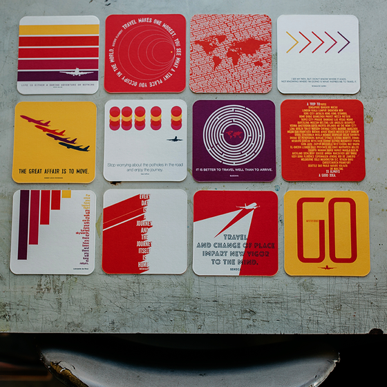 Inspire 12 Pack Double-Thick Paper Coasters