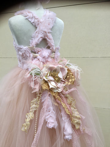 Flower girl Couture tutu dress-Leanna