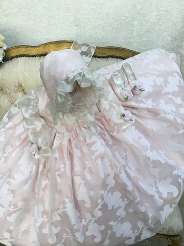 Christening silk gown-Eleanor