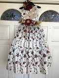 Flower girl silk dress-Brooklyn