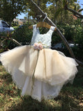Julia-baby girl tutu dress-flower girl-bridal-high low tutu