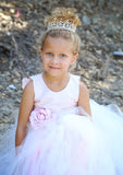 Blush Couture Tutu Dress-Bridal-Flowergirl-Photoprop-Isabella - ElenaCollection  - 2