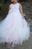 Blush Couture Tutu Dress-Bridal-Flowergirl-Photoprop-Isabella - ElenaCollection  - 3
