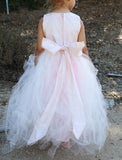 Blush Couture Tutu Dress-Bridal-Flowergirl-Photoprop-Isabella - ElenaCollection  - 7