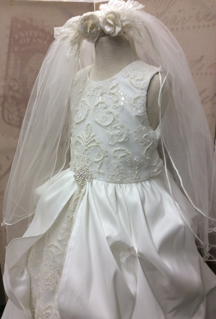 Communion dress-Victorian communion-flower girl-bridal-Paloma - ElenaCollection  - 2
