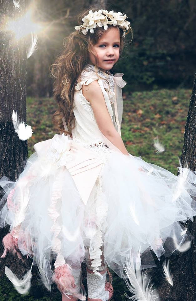 Tutu couture and lace corset-Photography-Flowergirl-bridal-Zoey - ElenaCollection  - 2