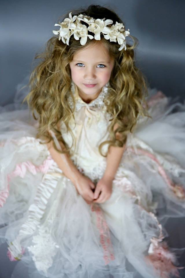 Tutu couture and lace corset-Photography-Flowergirl-bridal-Zoey - ElenaCollection  - 1