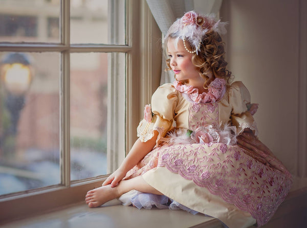 Flower girl Victorian dress-photography-bridal-VICTORIA