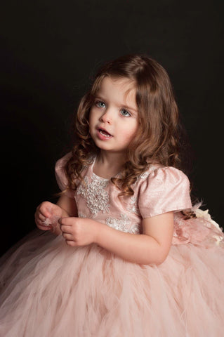 Donna-flowergirl blush tutu dress-photoprop-bridal-weddings
