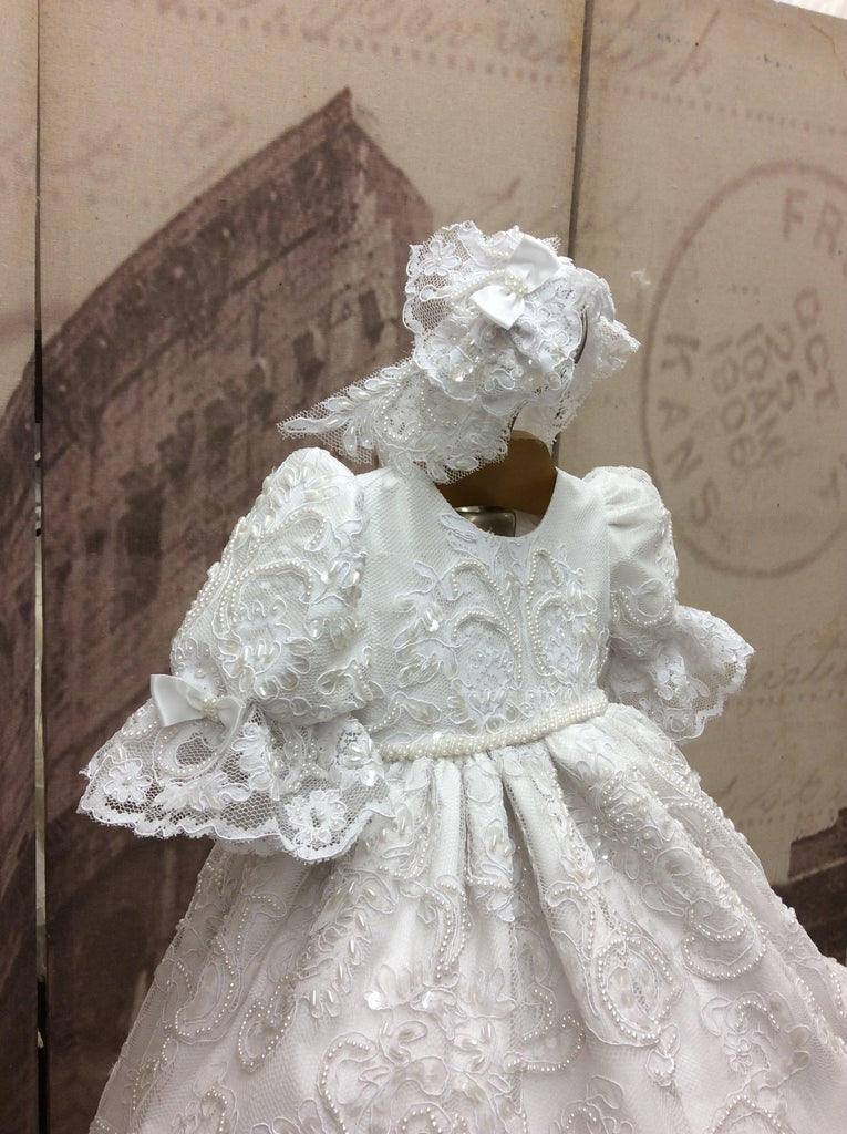 Heirloom Lace Christening Gown - Emma