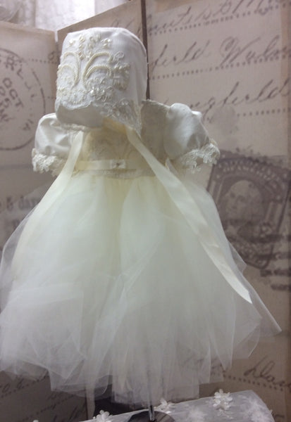 Baptism tutu dress-Anita